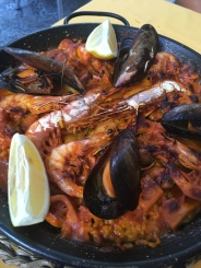 Seafood paella in Seville